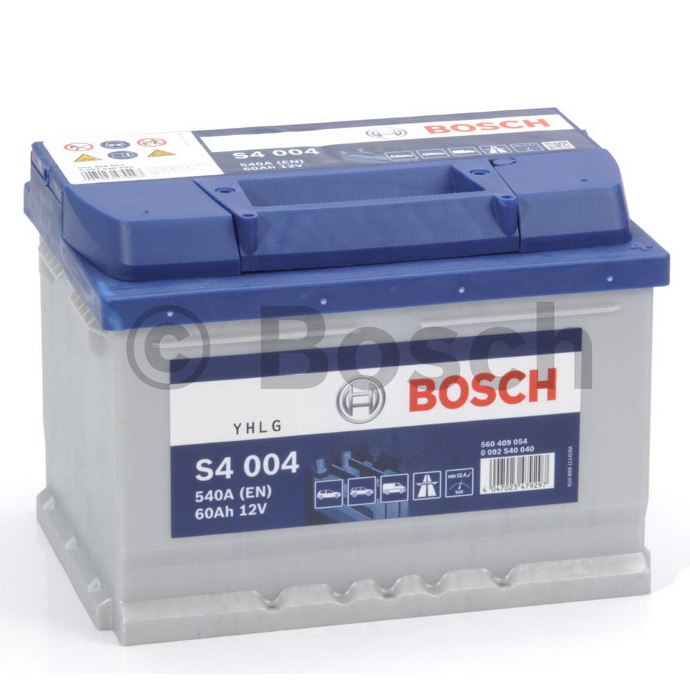 Bosch 0092S40040 Батарея аккумуляторная 60А/ч 540А 12В обратная поляр. стандартные клеммы