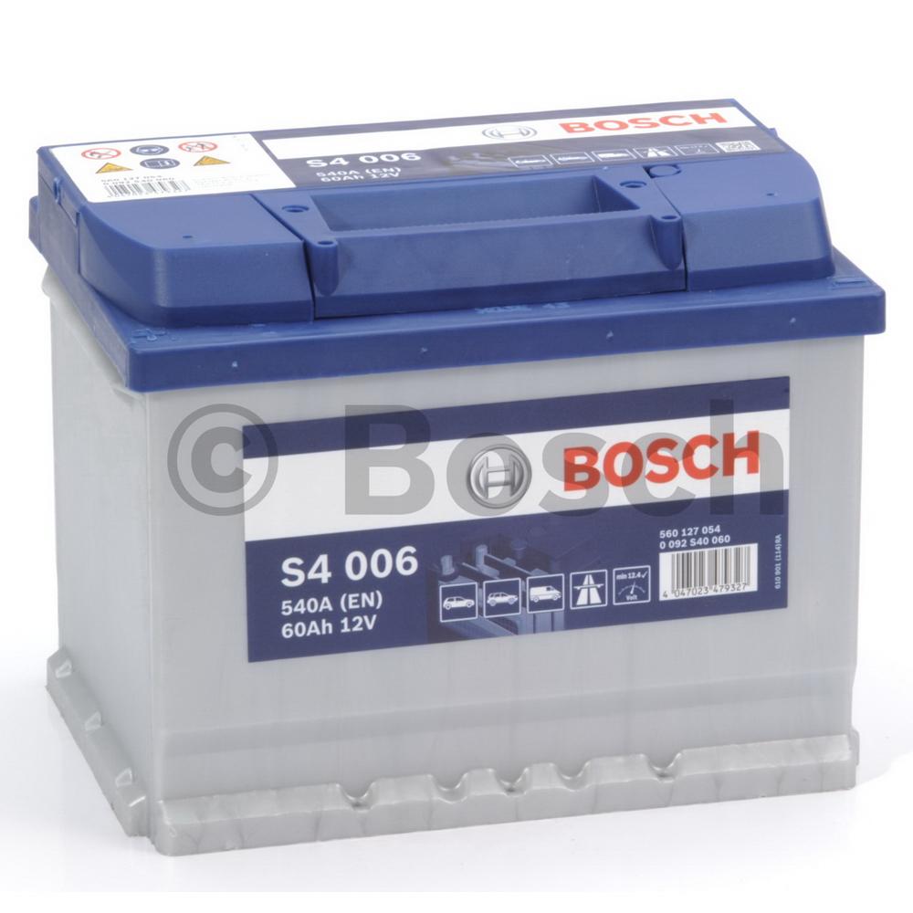 Bosch 0092S40060 Батарея аккумуляторная 60А/ч 540А 12В прямая поляр. стандартные клеммы