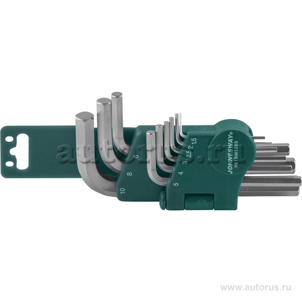 Jonnesway H01SM109S Набор шестигранников 9 пр. 1,5-10 мм JONNESWAY