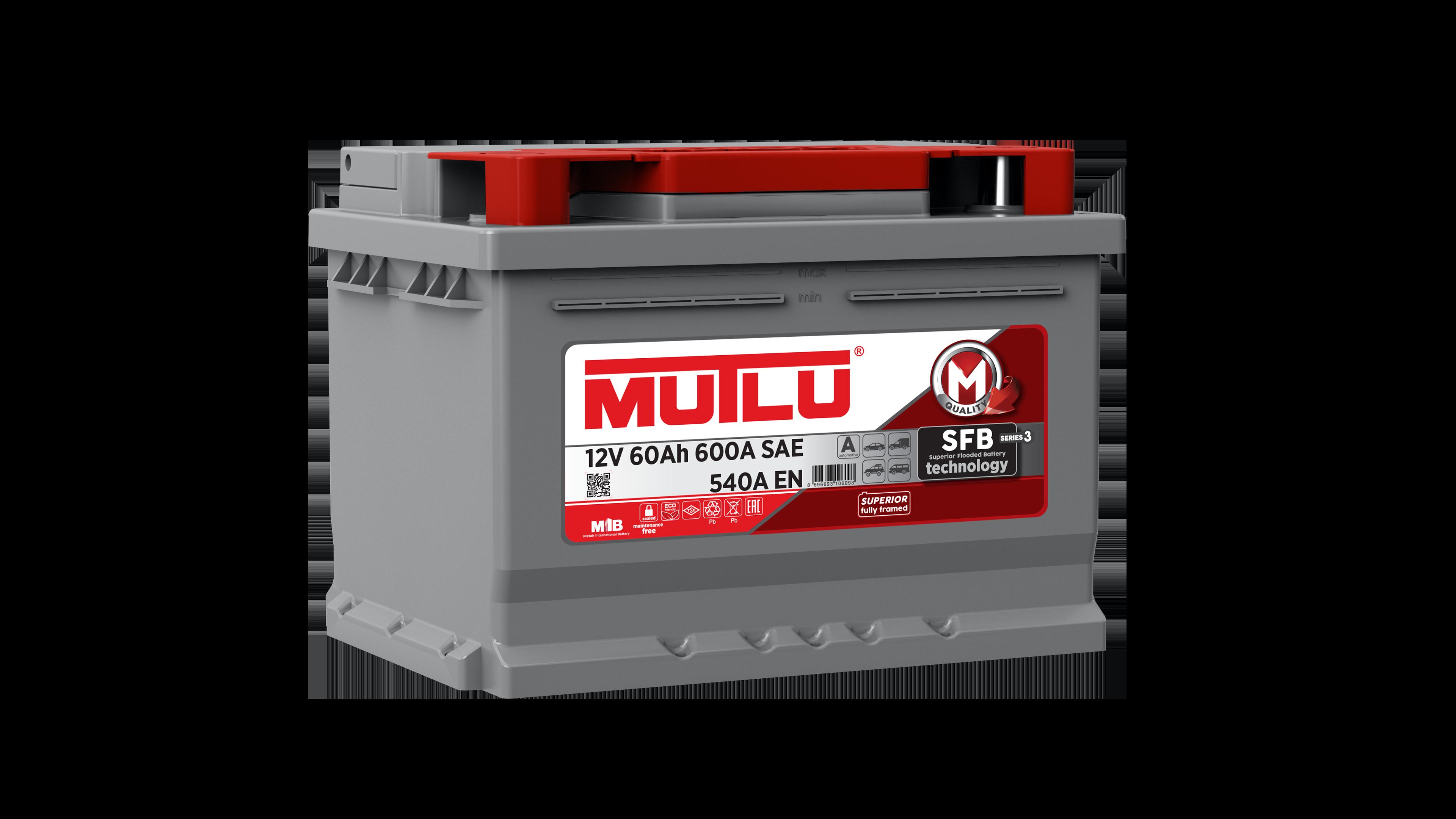 Mutlu LB260054A Батарея аккумуляторная 60А/ч 540А 12В обратная поляр. стандартные клеммы