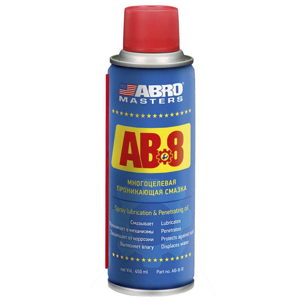 ABRO AB8R Смазка-спрей универсальная, 450мл