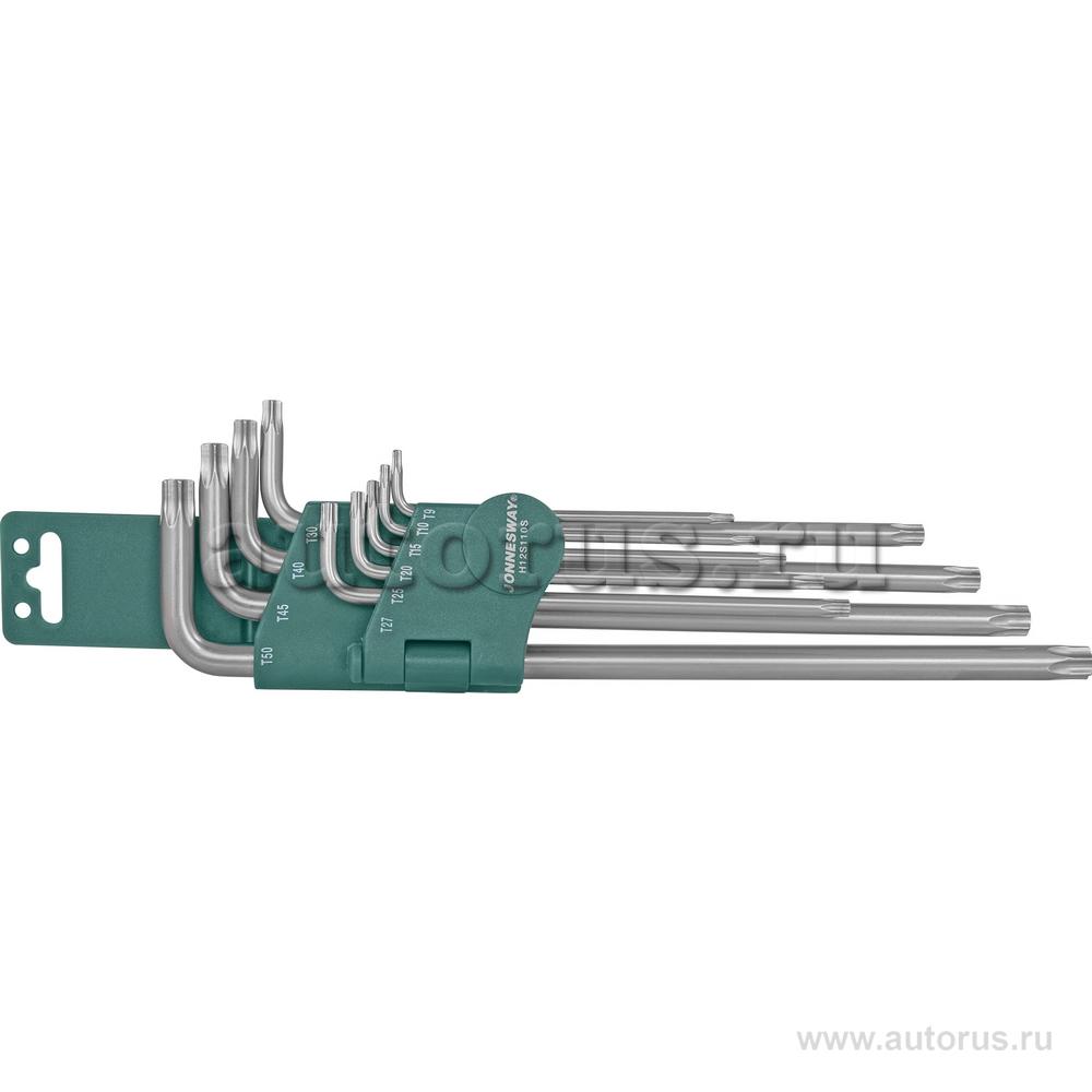 Jonnesway H12S110S Набор ключей торцевых TORX® удлиненных Т9-50, 10 предметов JONNESWAY