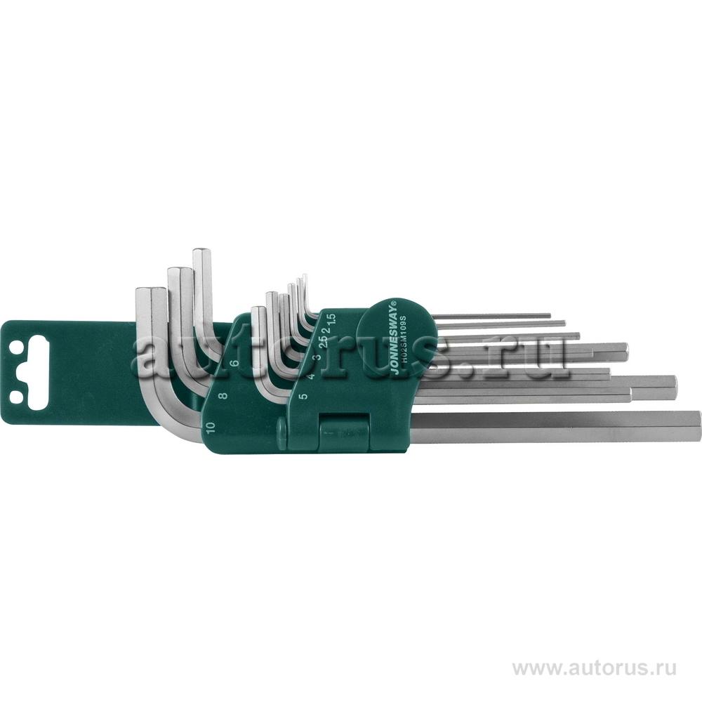 "Jonnesway H02SM109S Набор шестигранников 9 пр. 1,5-10 мм """"Long"""" JONNESWAY"