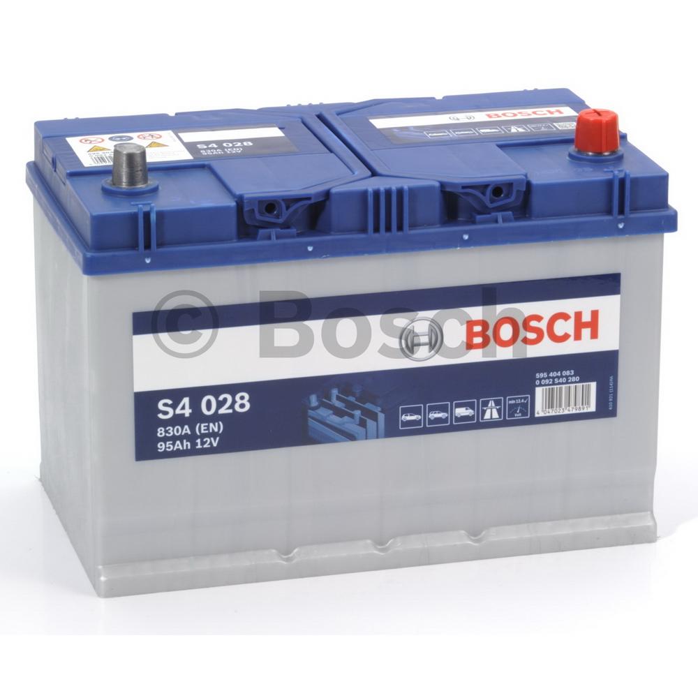 Bosch 0092S40280 Батарея аккумуляторная 95А/ч 830А 12В обратная поляр. стандартные клеммы