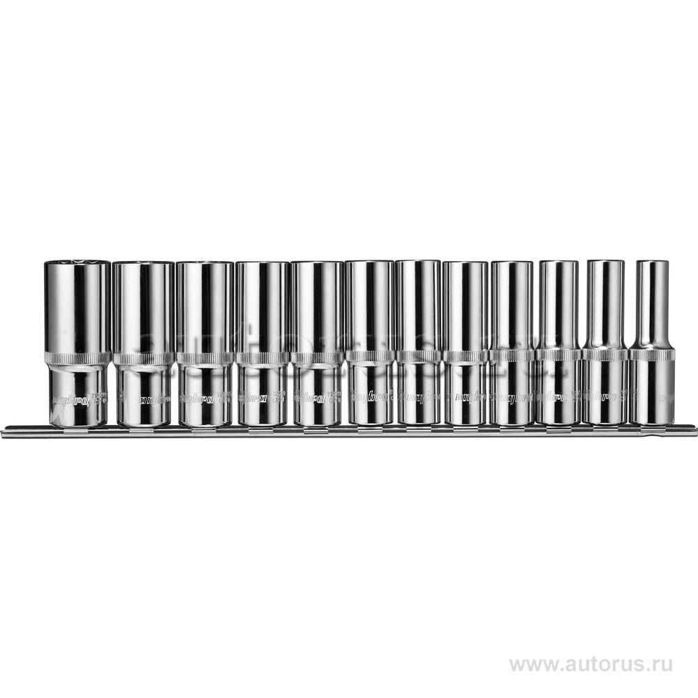 """OMBRA 912112 Набор головок (12пр.) 1/2"""""""" OMBRA 10-24 мм. удлиненные на держателе"""