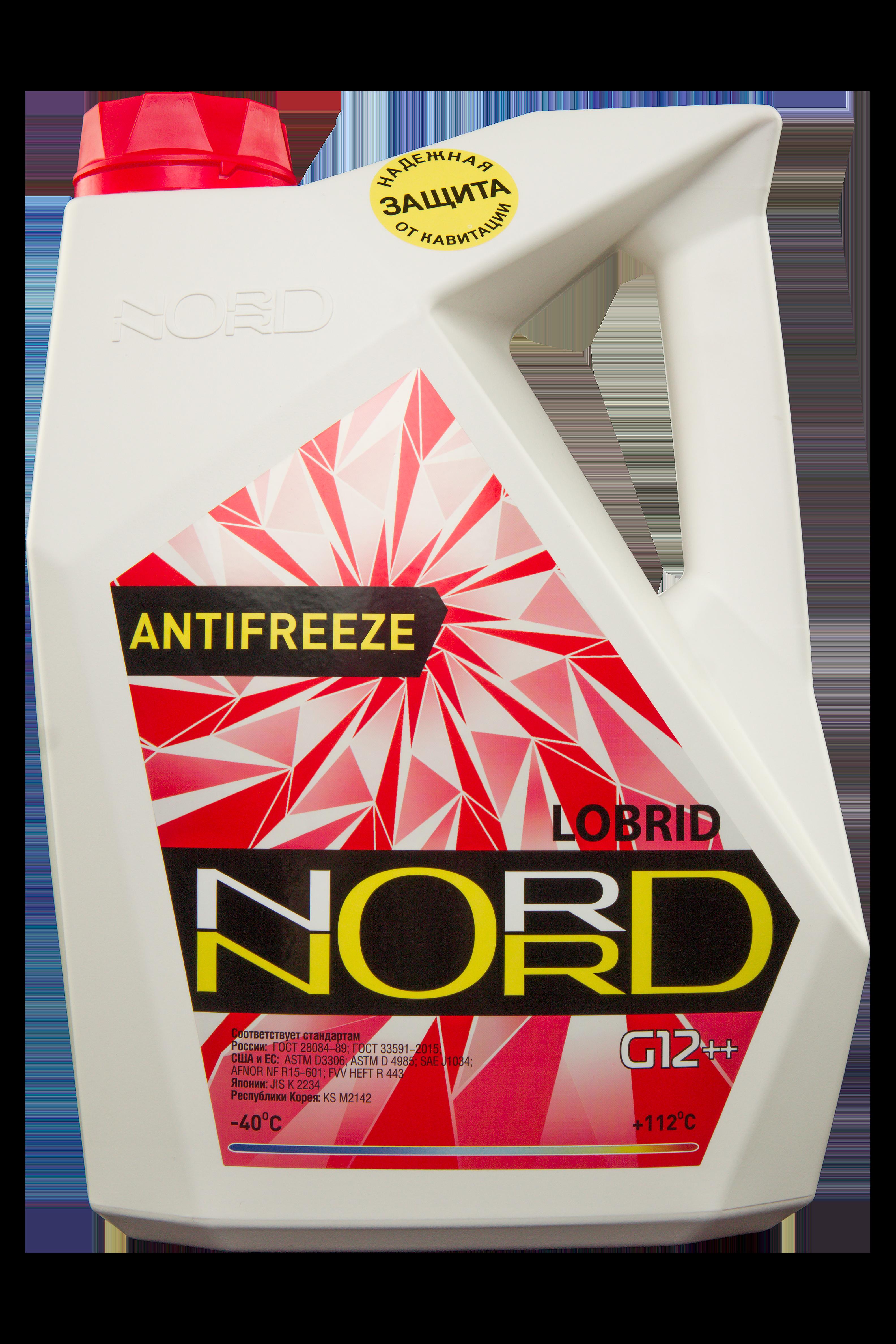 nord NR20249 Антифриз NORD High Quality Antifreeze готовый -40C красный 5 кг
