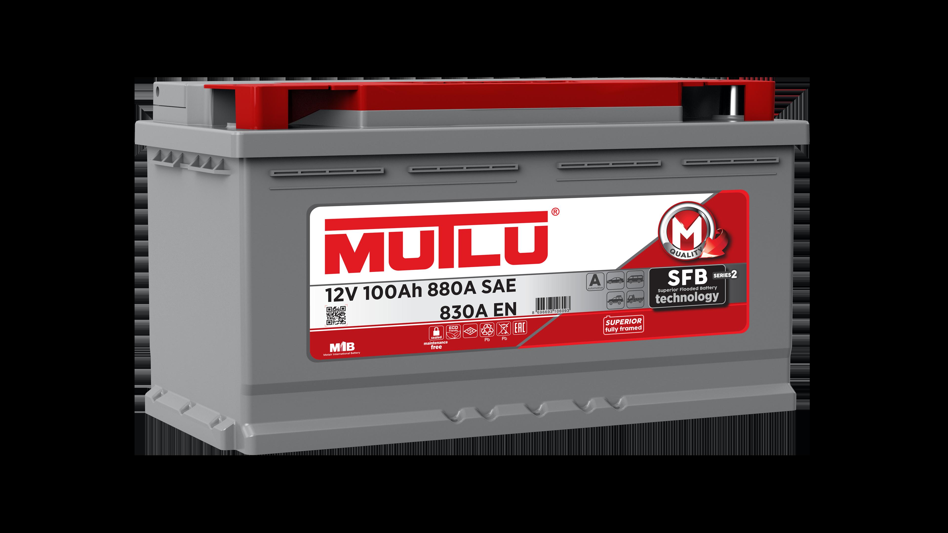Mutlu L5100083A Батарея аккумуляторная 100А/ч 830А 12В обратная поляр. стандартные клеммы