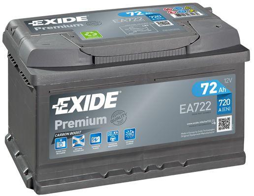 EXIDE EA722 Батарея аккумуляторная 72А/ч 720А 12В обратная поляр. стандартные клеммы