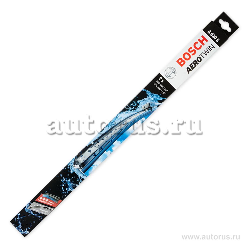 Bosch 3397007620 Комплект щеток бескаркасные, кнопка, 600/475мм