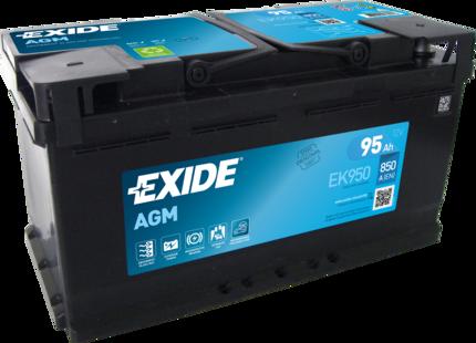 EXIDE EK950 Батарея аккумуляторная 95А/ч 850А 12В Обратная поляр. стандартные клеммы