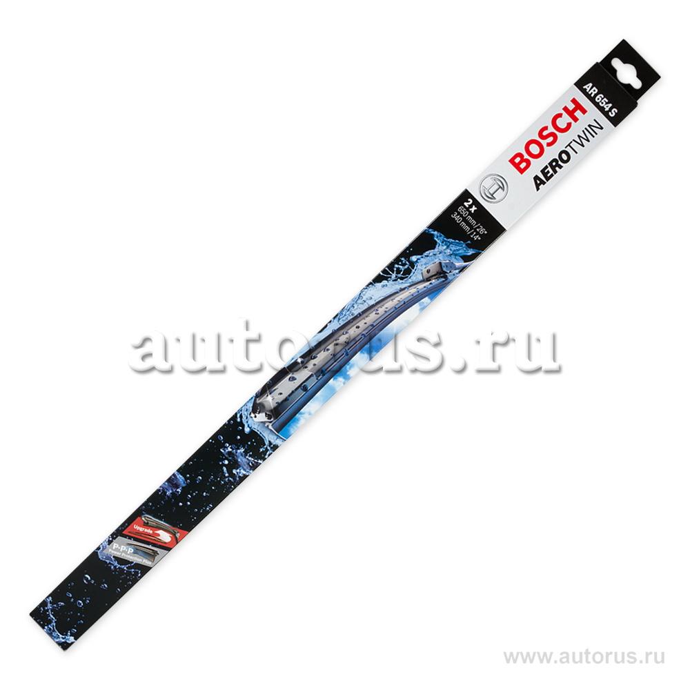 Bosch 3397007570 Комплект щеток бескаркасные, крючок, 650/340мм