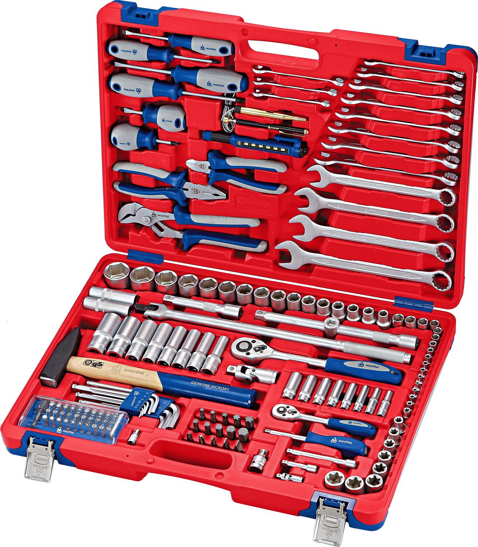 Мастак 01155C Набор инструментов универсальный, 155 предметов МАСТАК 01-155C