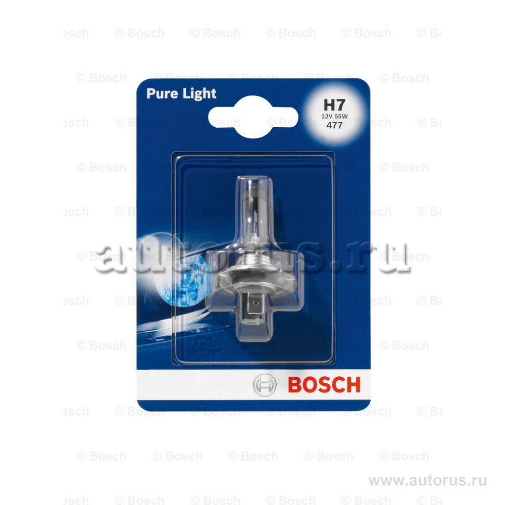 Bosch 1987301012 Лампа галогеновая BOSCH H7 PX26d 12V 55W  1шт.