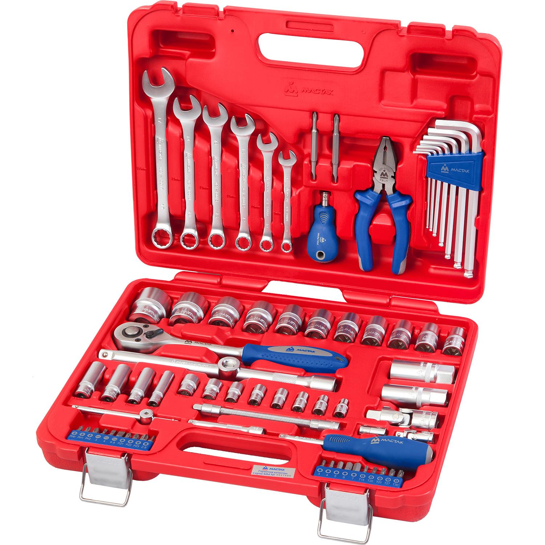 Мастак 0072C Набор инструментов универсальный, 72 предмета, МАСТАК 0-072C