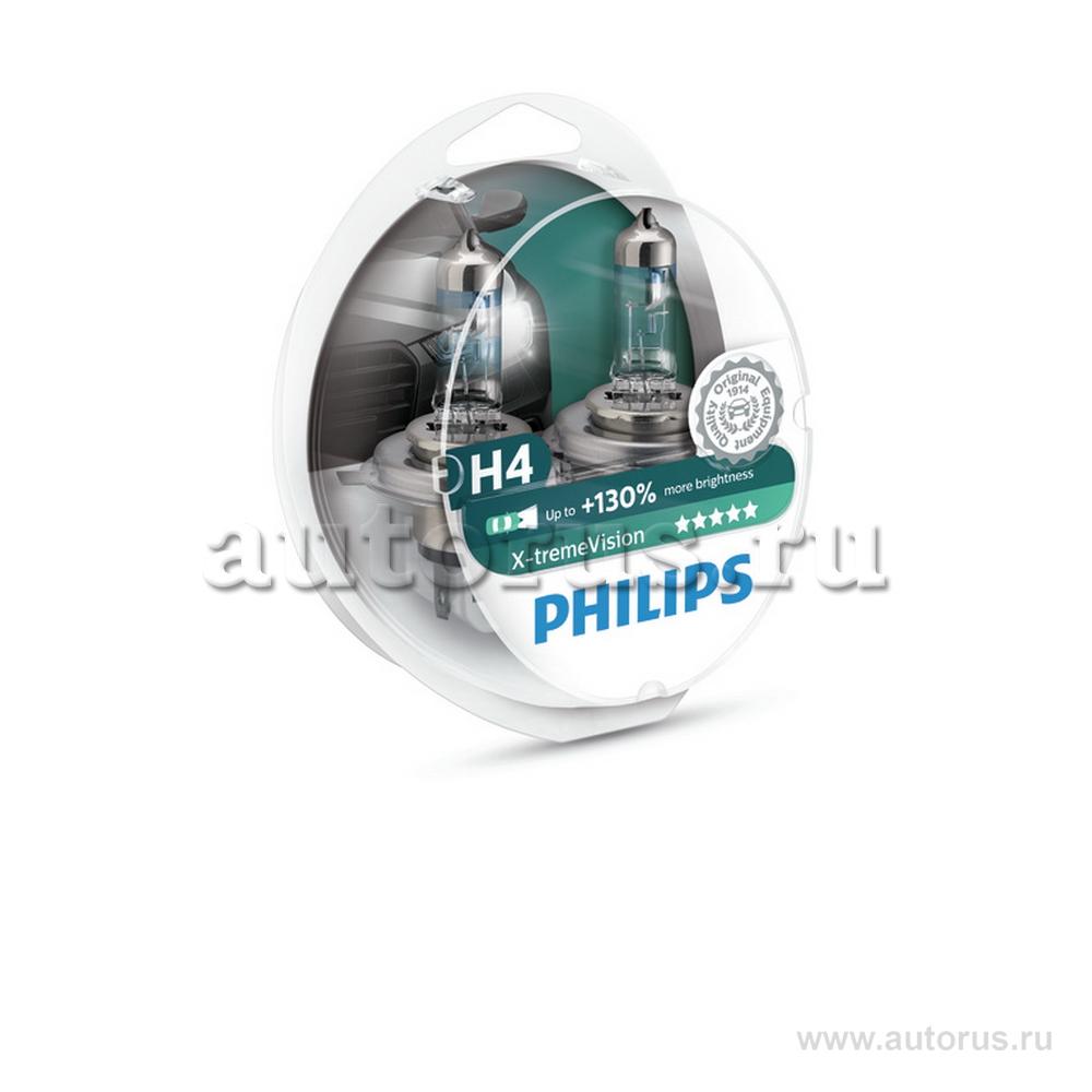 Philips 12342XVS2 Лампа галогеновая PHILIPS H4 P43t 12V 60/55W  1шт.