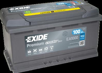 EXIDE EA1000 Батарея аккумуляторная 100А/ч 900А 12В обратная поляр. стандартные клеммы
