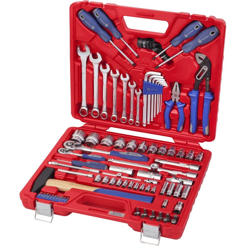 Мастак 0085C Набор инструментов универсальный, 85 предметов, МАСТАК