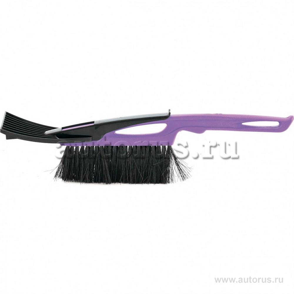 Sparta 552945 Щетка-сметка для снега со скребком 400 мм, фиолетовая Sparta Россия