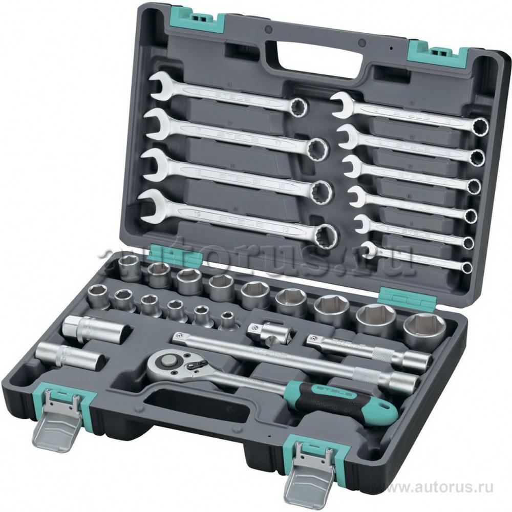 Stels 14102 Набор инструментов, 1/2, CrV, пластиковый кейс, 31 предмет Stels