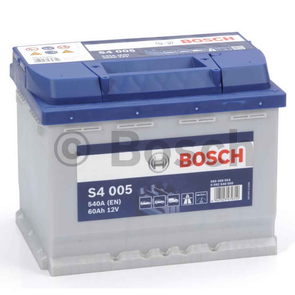Bosch 0092S40050 Батарея аккумуляторная 60А/ч 540А 12В обратная поляр. стандартные клеммы