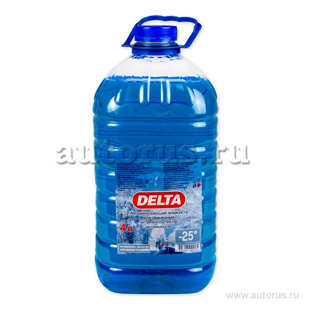 DELTA-NEO 0000000155 Жидкость омывателя незамерзающая DELTA -25С ПЭТ (4л)