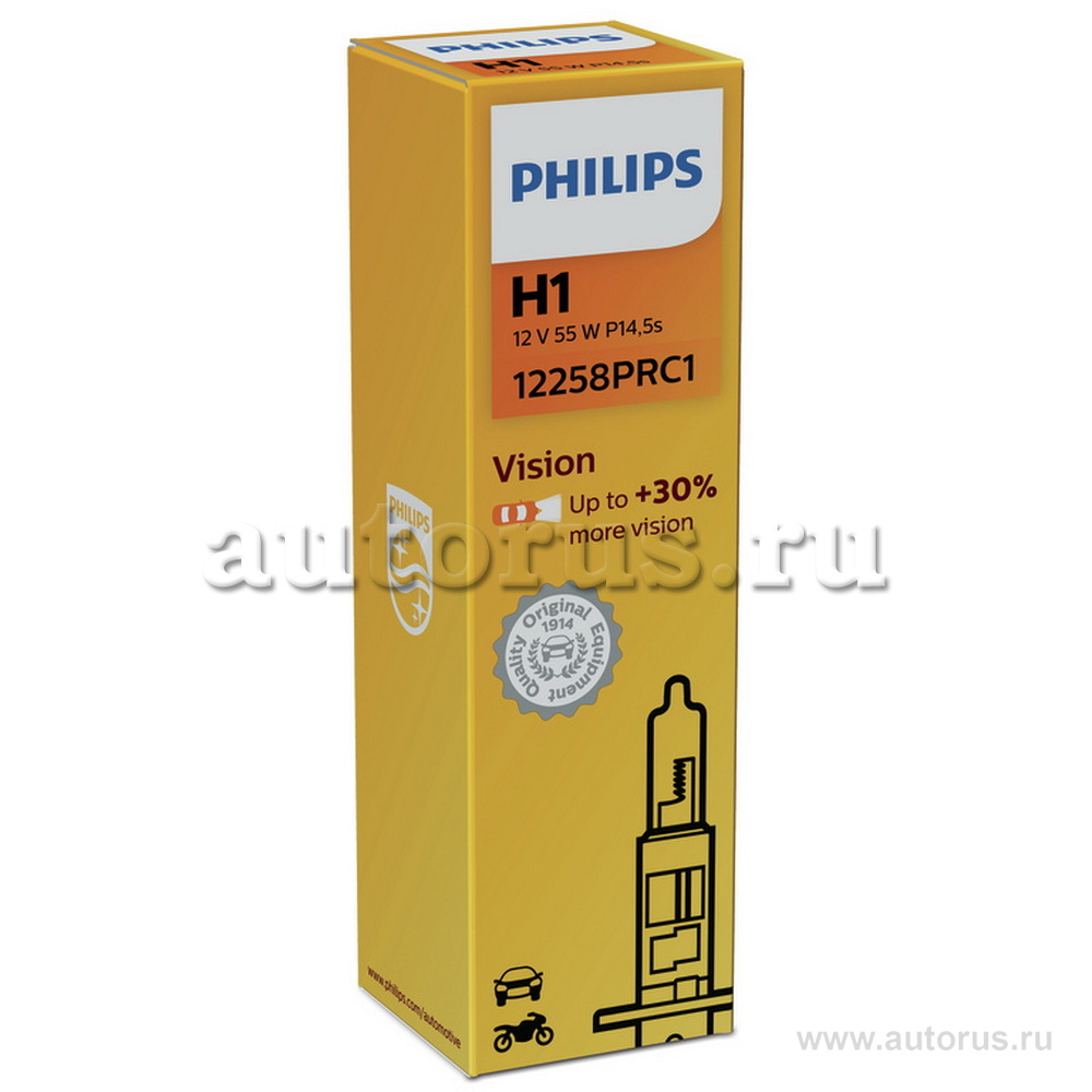Philips 12258PRC1 Лампа галогеновая PHILIPS H1 P14.5s 12V 55W  1шт.