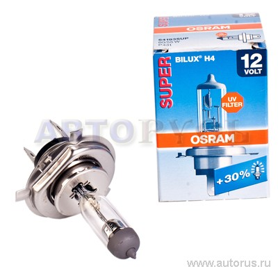 Osram 64193SUP Лампа галогенная OSRAM ULTRA LIFE H4 P43t 12V 60/55  1шт.