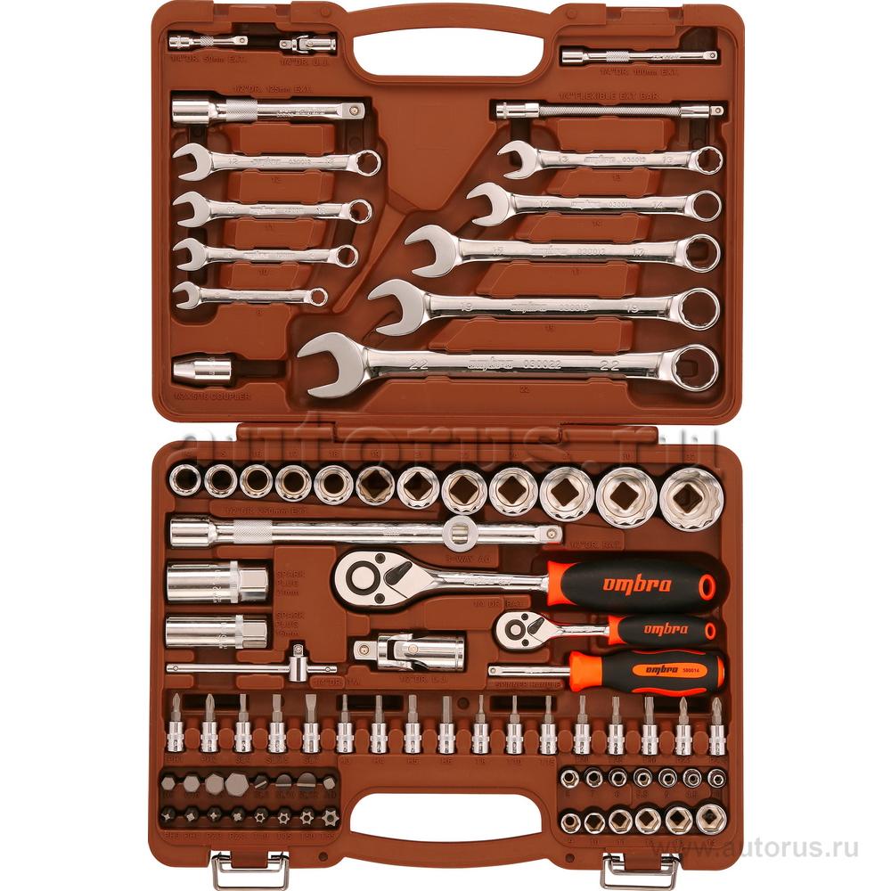 """OMBRA OMT82S12 OMT82S12 Универсальный набор инструмента торцевые головки 1/4"""", 1/2""""DR 4-32 мм, с 12-гр. голов"""