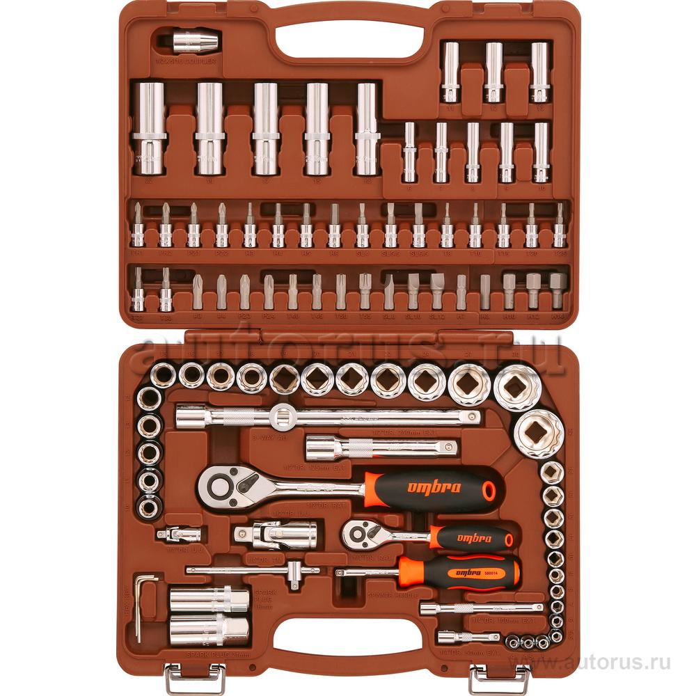 """OMBRA OMT94S12 OMT94S12 Универсальный набор инструмента торцевые головки 1/4"""", 1/2""""DR 4-32 мм, с 12-гр. голов"""