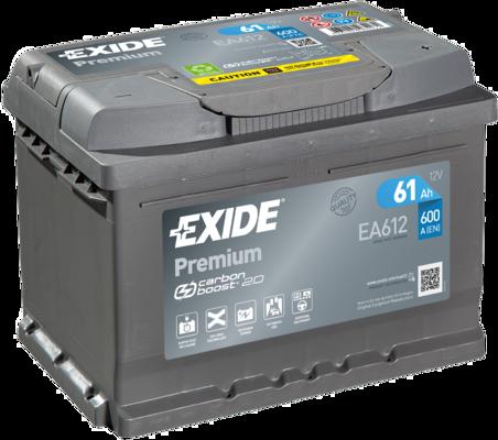 EXIDE EA612 Батарея аккумуляторная 61А/ч 600А 12В обратная полярн. стандартные клеммы