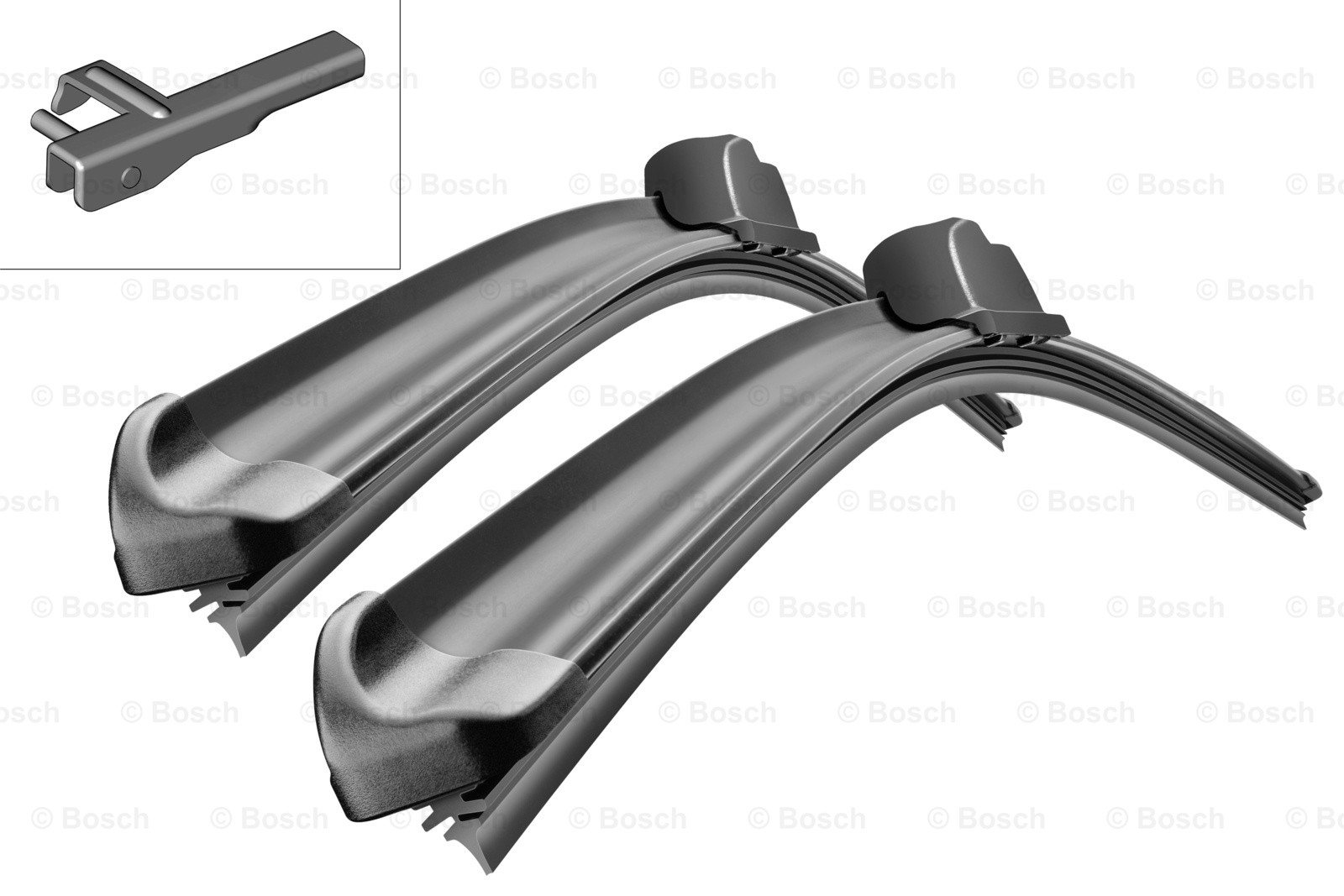 Bosch 3397118931 Комплект щеток бескаркасные, боковой штырь, 550/450мм