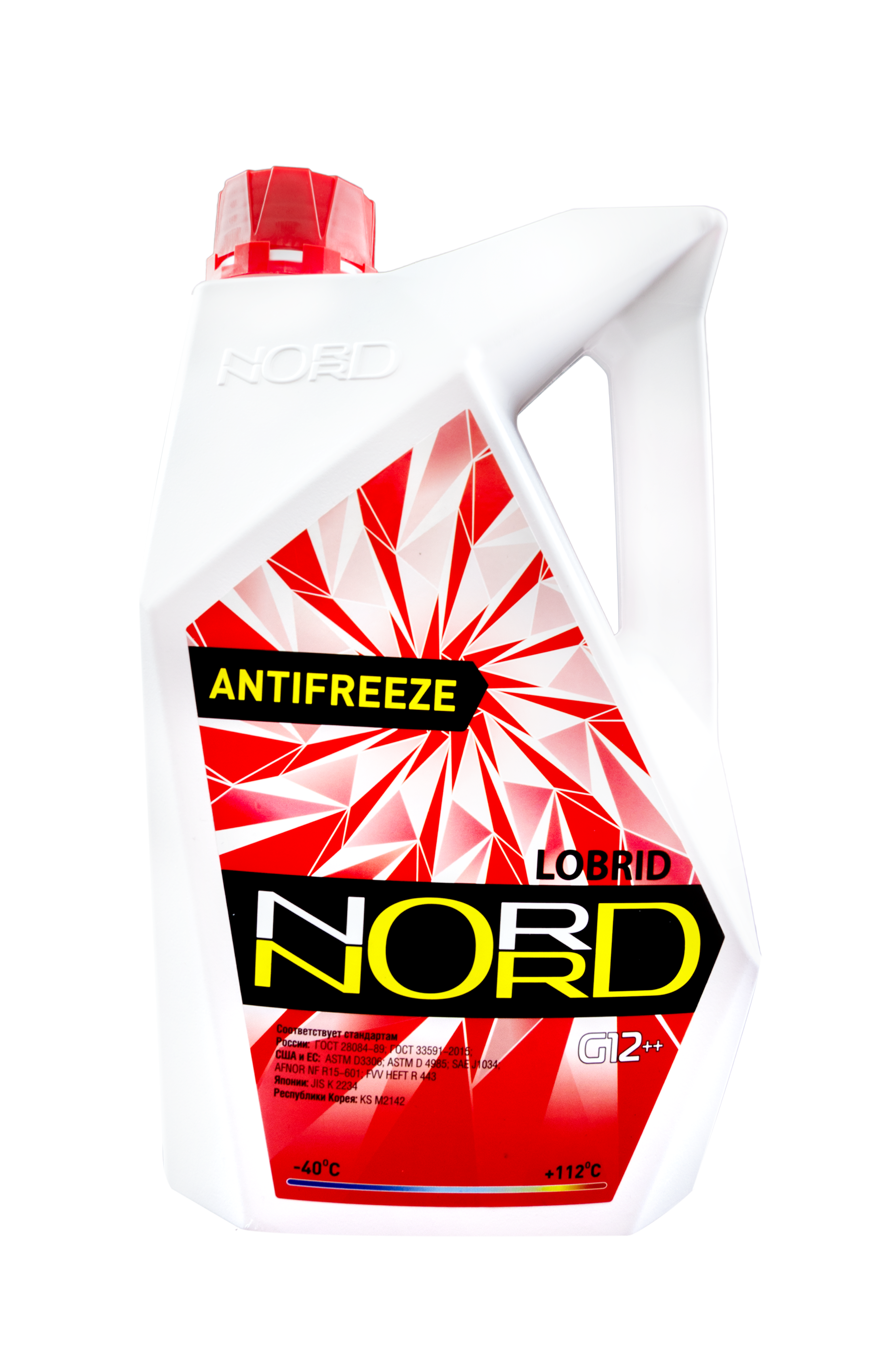 nord NR22243 Антифриз NORD High Quality Antifreeze готовый -40C красный 3 кг