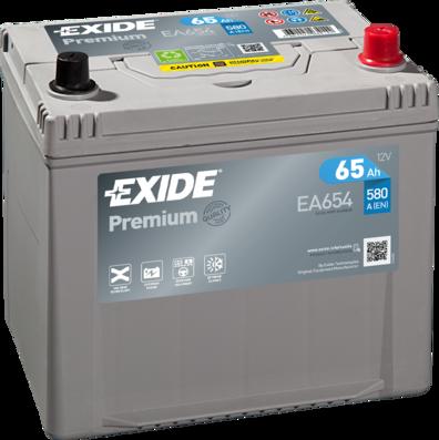 EXIDE EA654 Батарея аккумуляторная 65А/ч 580А 12В обратная полярн. выносные (Азия) клеммы