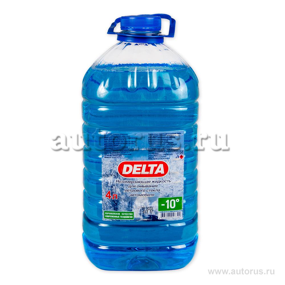 DELTA-NEO 0000000114 Жидкость омывателя незамерзающая DELTA-NEO ПЭТ готовый -10C 4 л