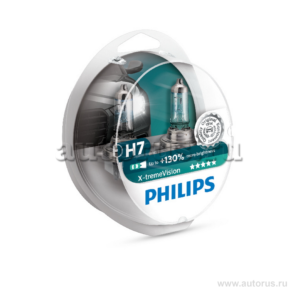 Philips 12972XVS2 Лампа галогеновая PHILIPS H7 PX26d 12V 55W  1шт.