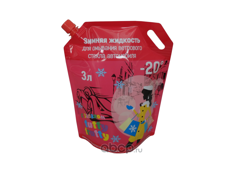 DELTA-NEO 0000000264 Жидкость омывателя незамерзающая DELTA -20С Tutty Frutty дойпак (3л)