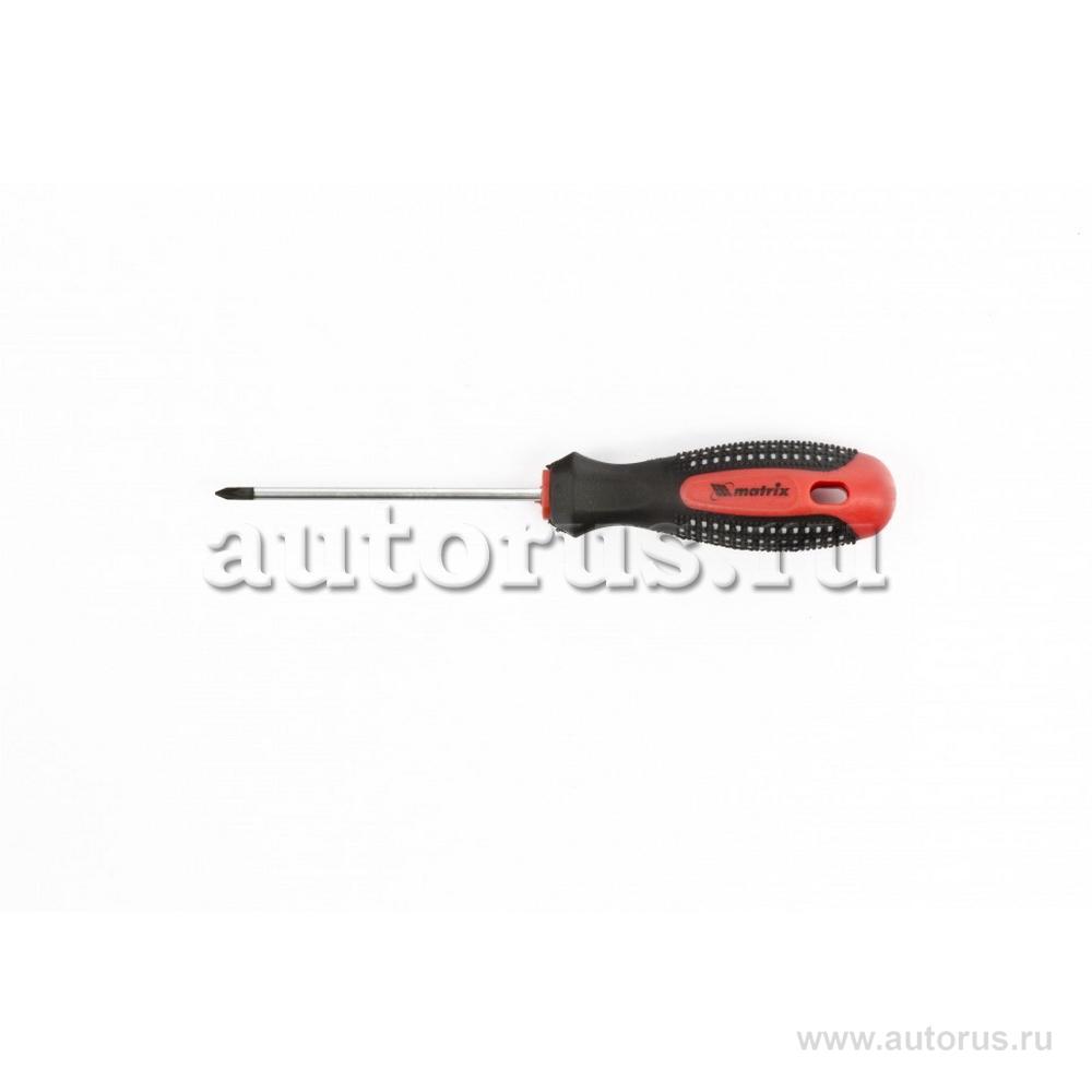 "Matrix 11400 Отвертка Fusion, PZ0 x 75 мм, CrV, трехкомпонентная рукоятка """"Anti slip"""" Matrix"