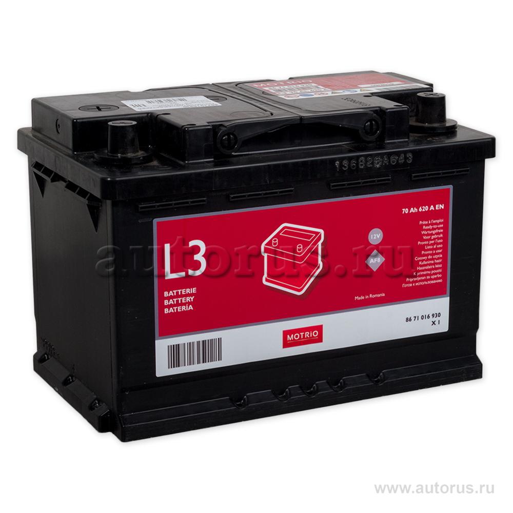 RENAULT 8671016930 Батарея аккумуляторная 70А/ч 620А 12В обратная поляр. стандартные клеммы