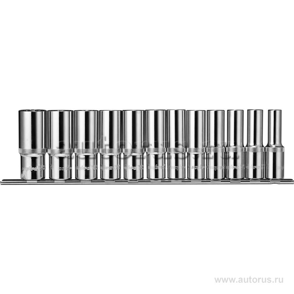"""OMBRA 912212 Набор головок (12пр.) 1/2"""""""" OMBRA 10-24 мм. удлиненные 12гр. на держателе"""