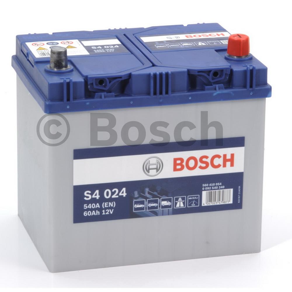 Bosch 0092S40240 Батарея аккумуляторная 60А/ч 540А 12В обратная поляр. стандартные клеммы