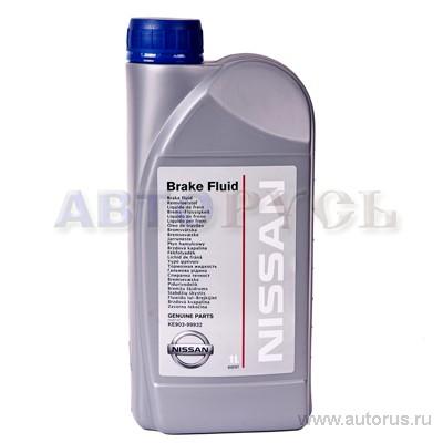 NISSAN KE90399932 Жидкость тормозная NISSAN DOT-4 (1 л.)